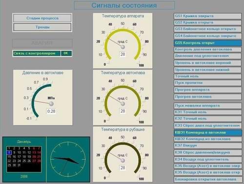 Автоматика управления вакуумно-нагнетательным автоклавом
