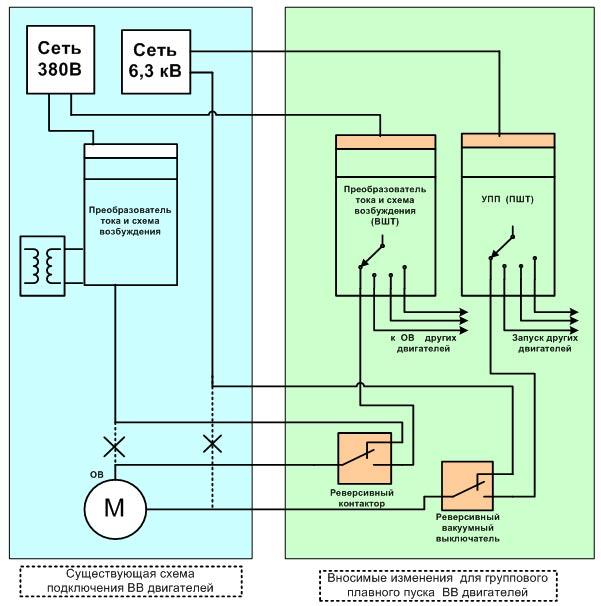 Схема включения УППВ